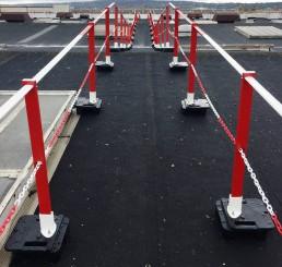 Absperrkette Guardline Premium für Flachdach