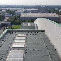 Dachgeländer mit Auflast ohne Dachdurchdringung