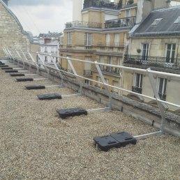 Dachgeländer selbsttragend ohne Dachdurchdringung
