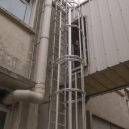 Dachleiter Rückenschutz Aluminium