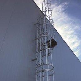 Dachleiter mit Rückenschutz