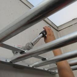 Durchtrittsicherung für Lichtkuppeln
