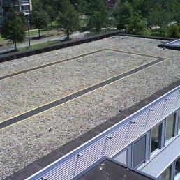 Etanco Walk Schutzmatten auf Kiesdach
