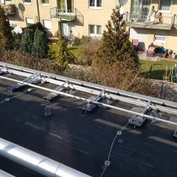 Klappbares Dachgeländer aus Aluminium