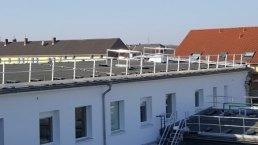 Lichtkuppelnumwehrung Dachgeländer