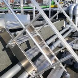 Treppe aus Aluminium