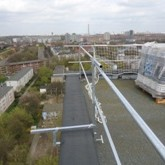 Temporäre Dachabsturzsicherung an der Attika Dachgeländer